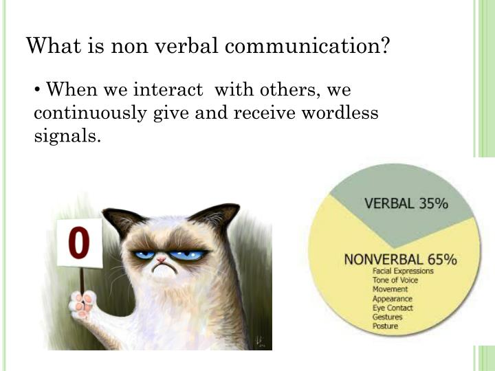 What is non verbal communication?