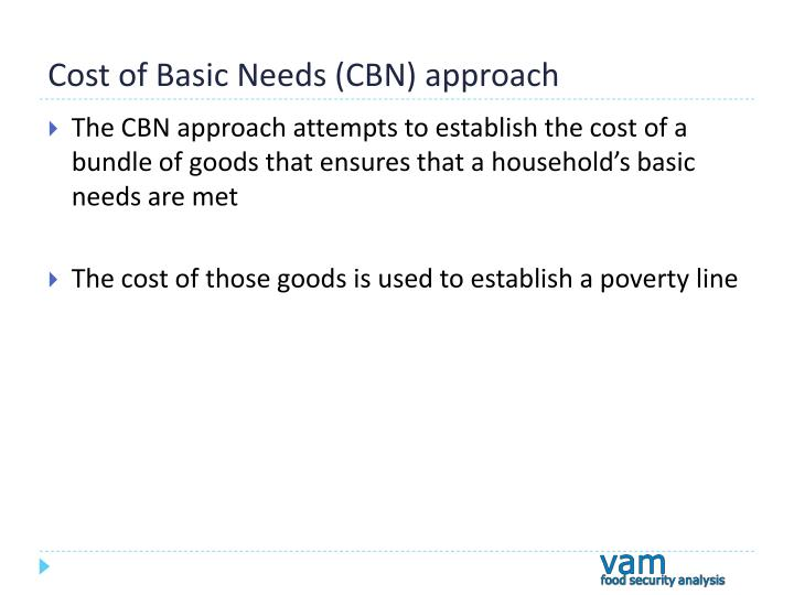 Cost of Basic Needs (CBN) approach