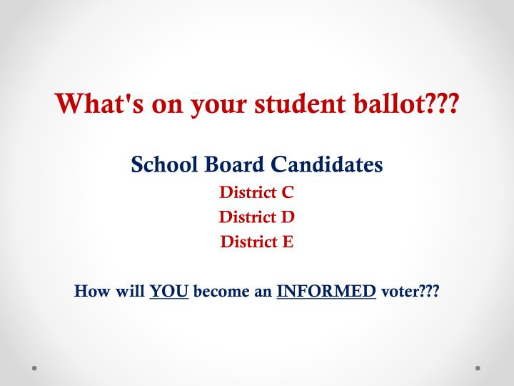 What's on your student ballot???