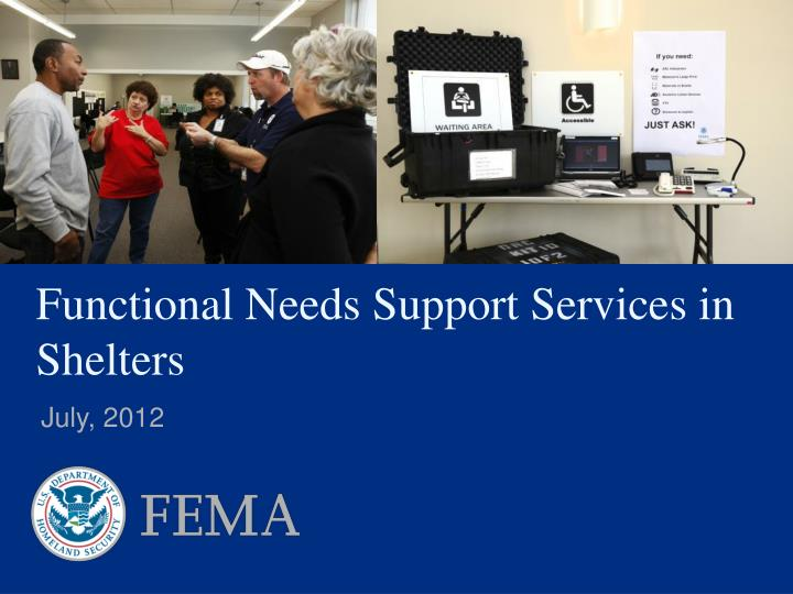functional needs support services in shelters n.