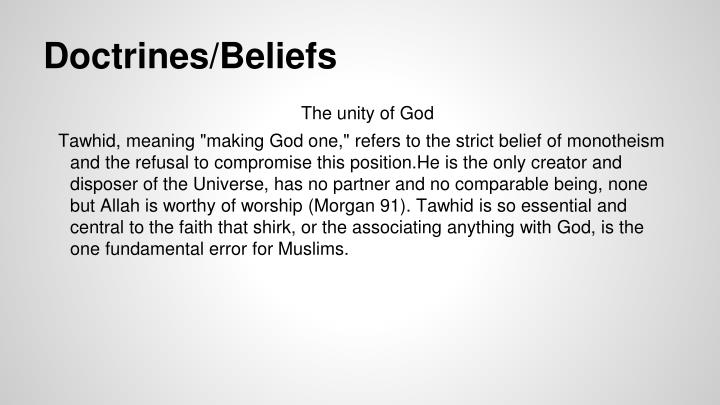 Doctrines/Beliefs