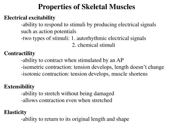 Properties of Skeletal Muscles