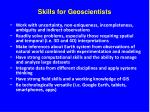 skills for geoscientists