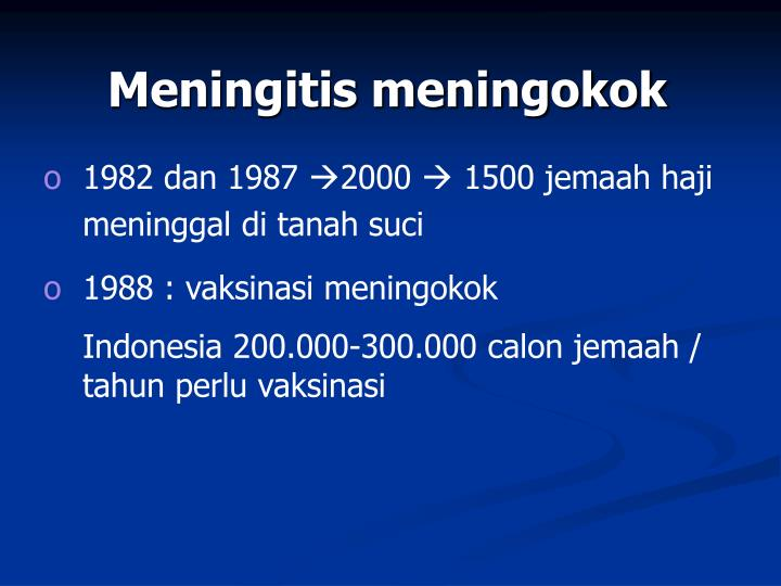 Meningitis meningokok