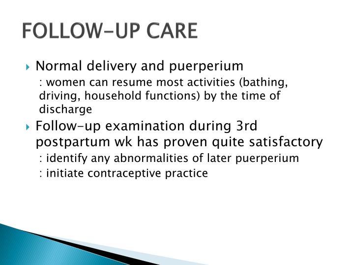 FOLLOW-UP CARE