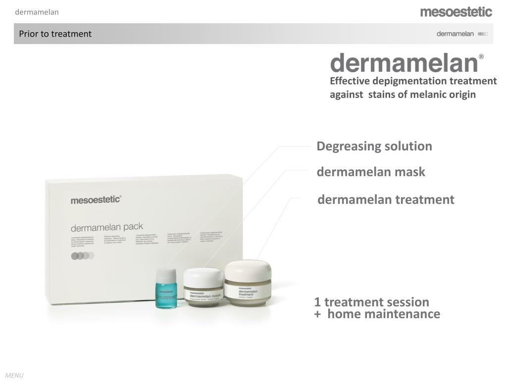 PPT - depigmentating treatment effective against melanic blemishes