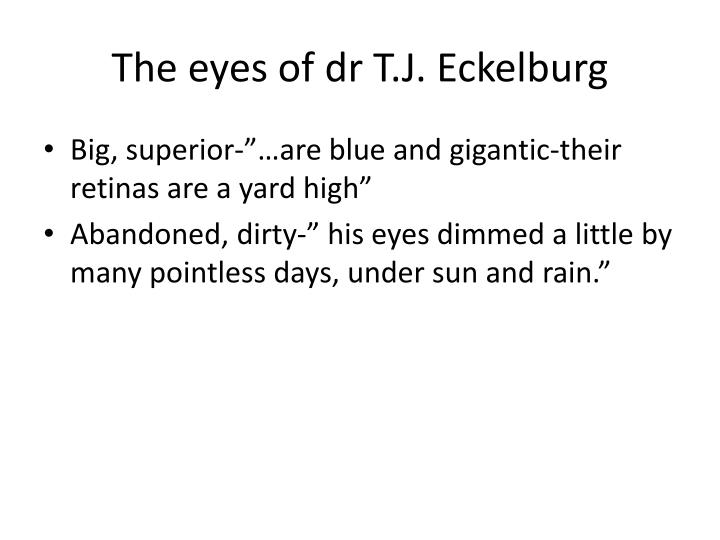 The eyes of