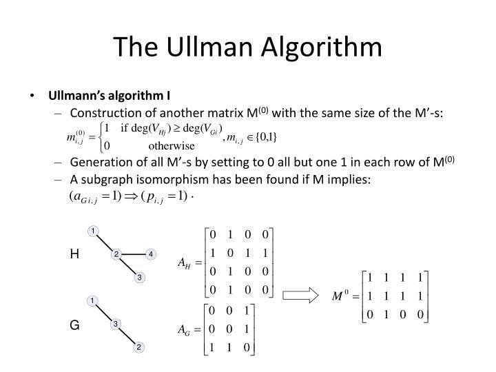 The Ullman Algorithm