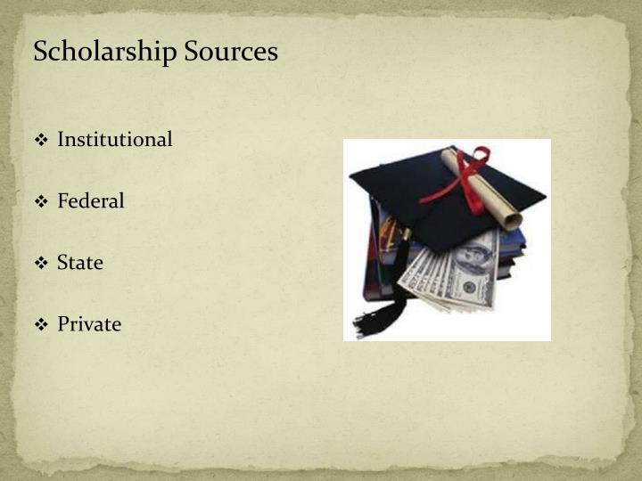 Scholarship Sources