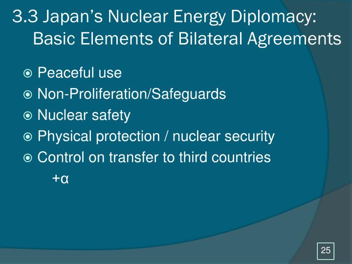 3.3 Japan's Nuclear Energy Diplomacy: Basic Elements of Bilateral Agreements