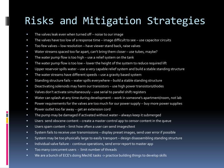 Risks and Mitigation Strategies