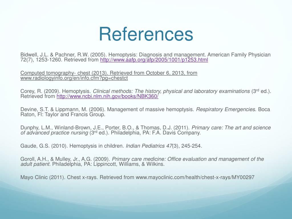 PPT - Hemoptysis PowerPoint Presentation - ID:2000799