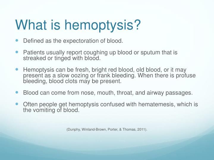 PPT Hemoptysis PowerPoint Presentation ID 2000799