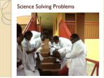 science solving problems