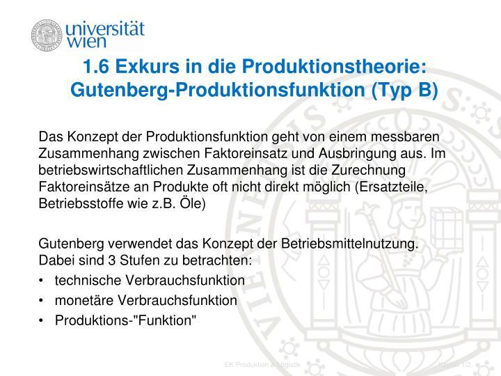 1 6 exkurs in die produktionstheorie gutenberg produktionsfunktion typ b