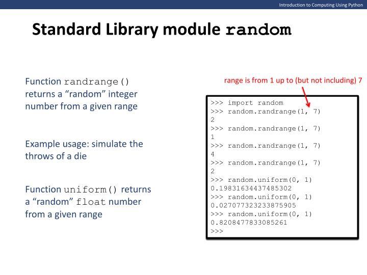 Standard Library module