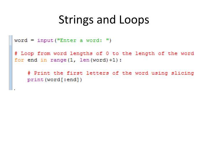 Strings and Loops