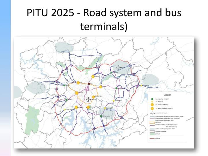 PITU 2025 - Road system and bus terminals)