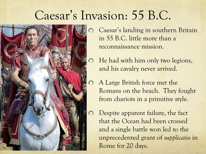 Caesar's Invasion: 55 B.C.