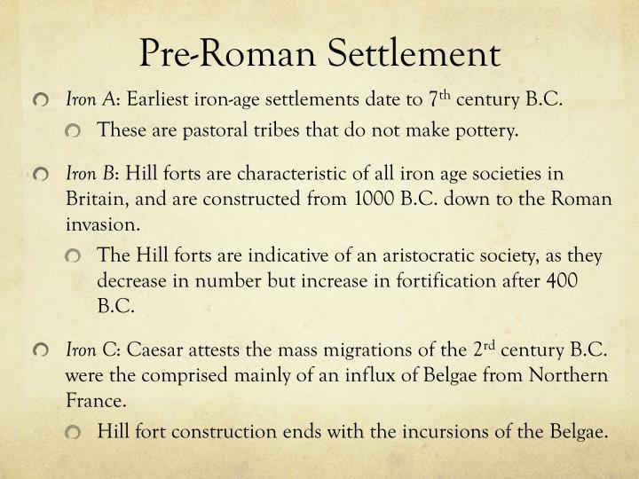 Pre-Roman Settlement