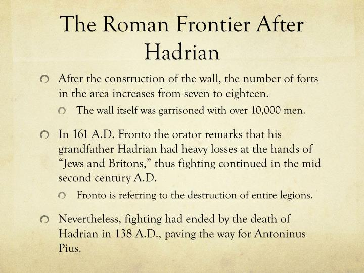 The Roman Frontier After Hadrian