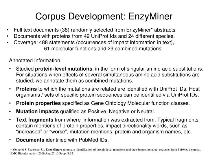 Corpus Development: