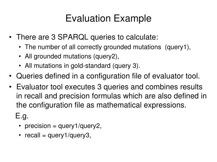 Evaluation Example