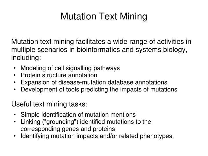 Mutation text mining