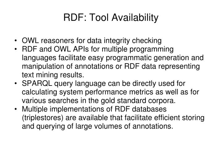 RDF: Tool