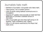 journalists hate math