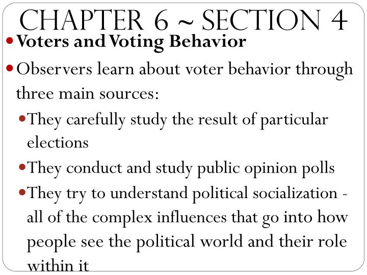 public opinion socialization voting and elections Public opinion on the voting rights act public opinion polling on voting rights over the last 75 years show a country united in a 2018 elections.