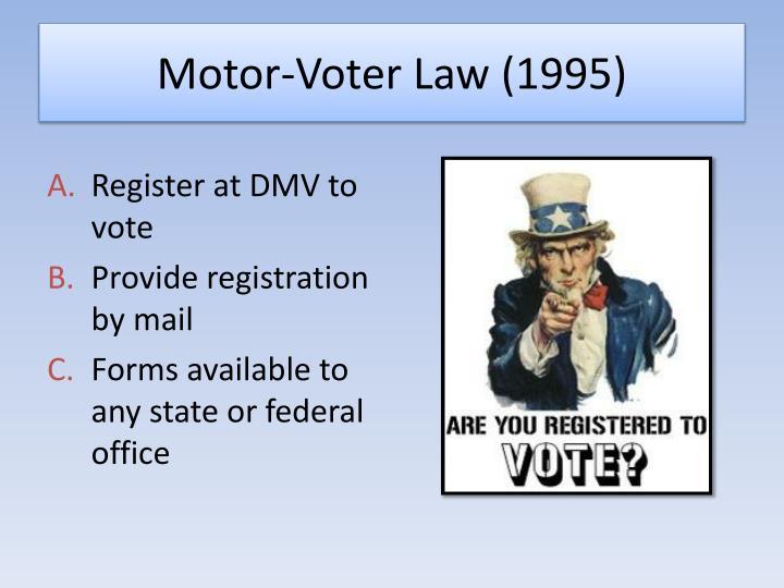 Motor-Voter Law (1995)