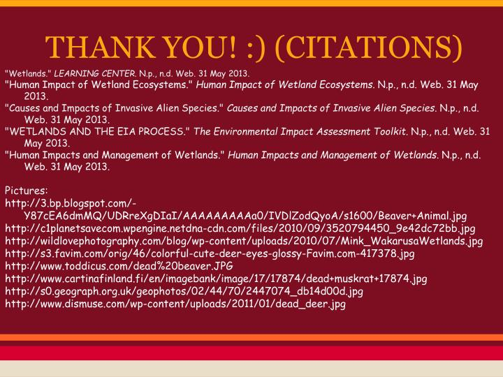 THANK YOU! :) (CITATIONS)