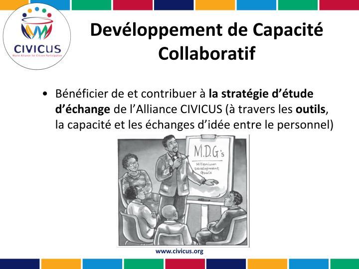Devéloppement de Capacité Collaboratif