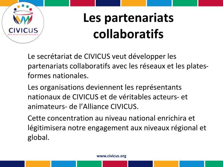 Les partenariats collaboratifs