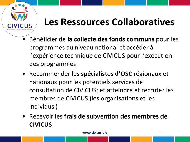 Les Ressources Collaboratives