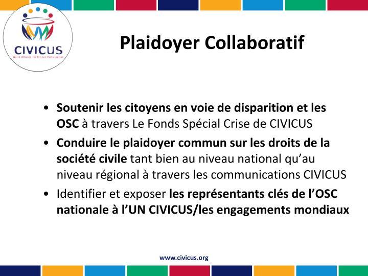 Plaidoyer Collaboratif