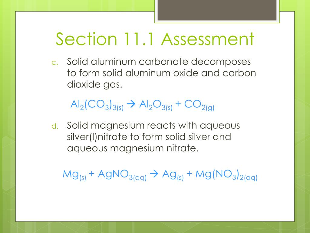 PPT - Chapter 11: Chemical Reactions PowerPoint Presentation - ID
