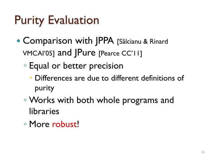 Purity Evaluation