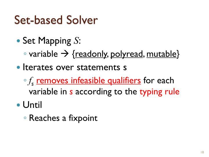 Set-based Solver