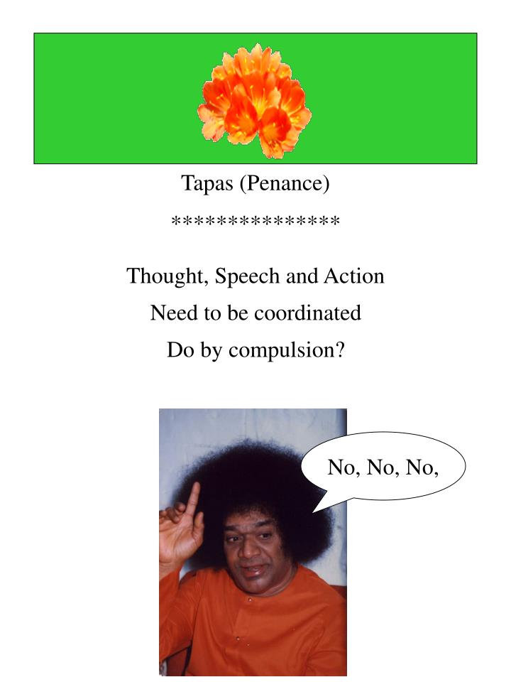 Thought, Speech and Action