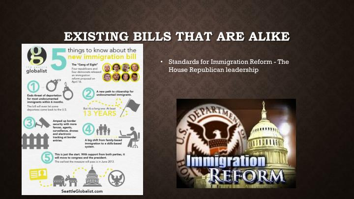 Existing bills that