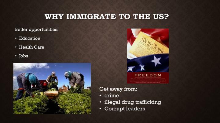 Why immigrate to the us
