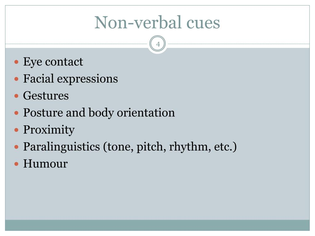 Non verbal dating cues