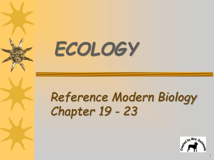 PPT Reference Modern Biology Chapter 19 23 PowerPoint