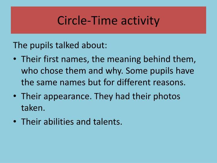 Circle time activity