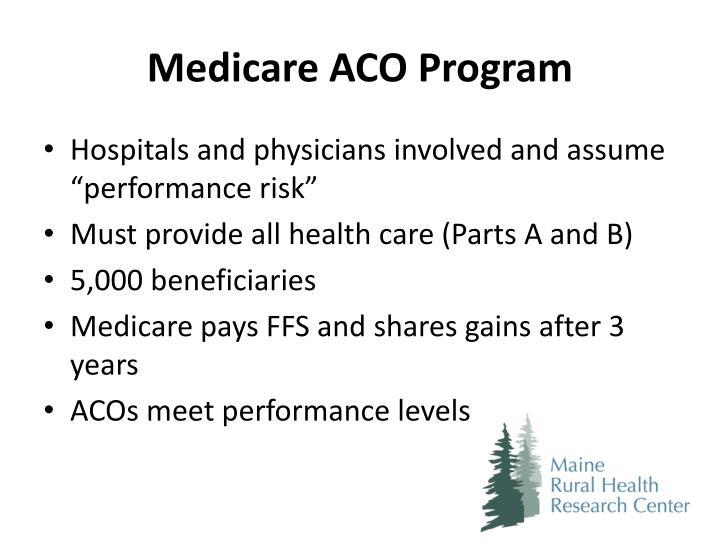 Medicare ACO Program