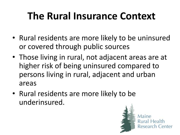The Rural Insurance Context