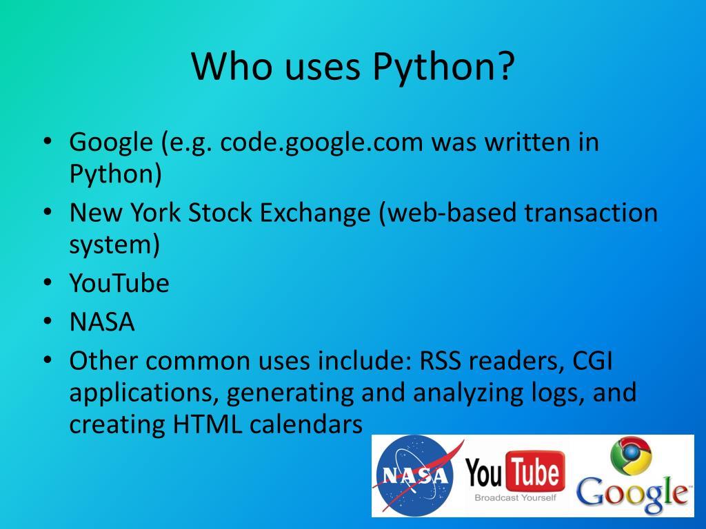 PPT - Python Programming Language PowerPoint Presentation - ID:2001863