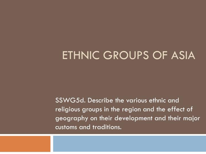 ethnic groups of asia n.